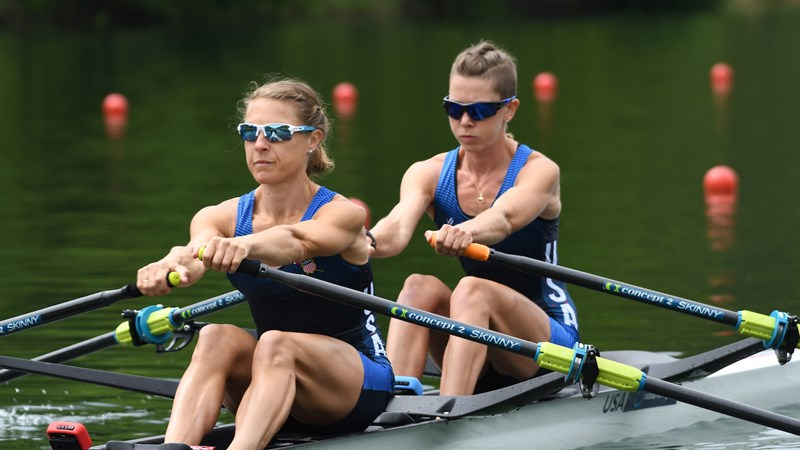 Lightweight Women's Double, Men's Pair Advance to Semis at Final Olympic Qualification Regatta